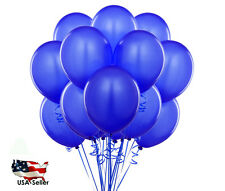 "15pcs 18"" GIANT BLUE COLOR  Round Balloons Birthday Party Latex Balloons"