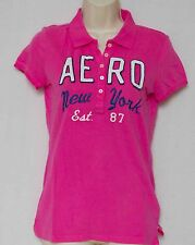 Aeropostale Appliqued/Embroidered Pink Short Sleeve Polo New w/Tags