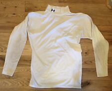 Under Armour UA Cold Gear White Long Sleeve Shirt Large Mens Fitted Compression