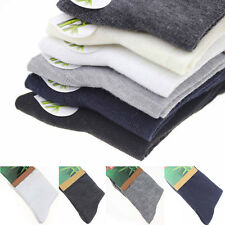 5 Pairs Men Business Solid Bamboo Fiber Breathable Casual Dress Socks Wholesale.
