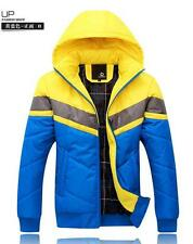 Fashion Mens Puffer Cotton Down Padded Jackets Winter Thicken Hooded Warm Coats