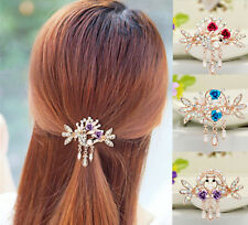 Tops Flower Crystal Rhinestone NEW Clip Women Jewelry Hair Barrette Hairpin