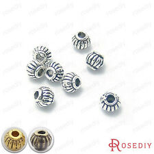 50PCS 5*4MM Alloy Pumpkin Beads Spacer Beads Jewelry Findings Accessories 4344