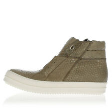 RICK OWENS Man ISLAND DUNK Python Leather Sneakers Made in Italy