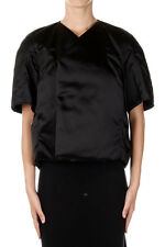 RICK OWENS Woman Black Padded Cocoon Coat Made in Italy
