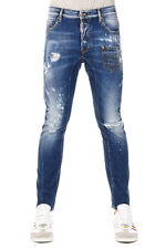 DSQUARED2 Dsquared² New Men Blue Denim Pants Jeans TIDY Made Italy NWT