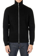 MARTIN MARGIELA MM14 Men Black Wool Zipped Sweater Made in Italy