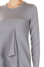 MAISON MARTIN MARGIELA 1 New Women Grey Long sleeve wool Dress Made Italy