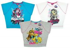 Girls T-Shirt Tops PACK OF 3 Monster High Batwing Skeleton Crew 8 to 14 Years