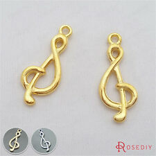 20PCS 26*10MM Music symbol Charms Pendants Jewelry Findings Accessories 20598