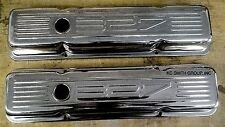 1958-1986 Chevy Small Block Chrome Stamped '327' Valve Covers, Short