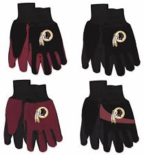 NFL Washington Redskins No Slip Gripper Utility Work Gardening Gloves NEW!