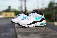 NIKE AIR MAX 93 MENS RUNNING SHOES 306551-103 White/Dusty Cactus/Black MENTHOL
