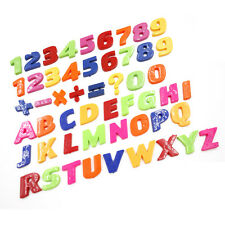 Plastic Magnetic Fridge Magnets Letter Alphabet & Numbers Set 26/52 Pieces 0CN