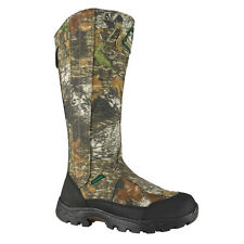 Rocky Mens MOBU Camo Leather Waterproof Snake Proof Hunting Boots