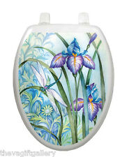 Iris Beauty Toilet Tattoo, Decor, Restroom, Decal, Cover Flower Purple TT-1014