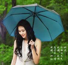 NEW Concise Style Anti UV Parasol Fashion lightweight Folding Sun Rain Umbrella