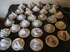 LOVELY JOB LOT 5 VINTAGE MISMATCH CHINA CUPS & SAUCERS IDEAL PARTIES,TEAROOMS