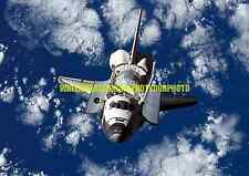 Nasa Space Shuttle Discovery Color Photo Military Rocket Orbit Earth Astronaut
