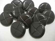 New lots of Real Leather Dark Brown Molded Woven Buttons  1  inch = 25mm   #8