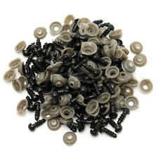 100 Pcs New 6-14mm Black Plastic Safety Eyes for Teddy Bear Dolls Toy Animal DIY