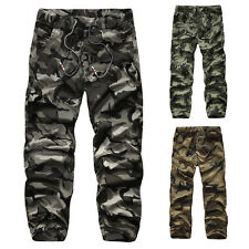 Men's Stylish Casual Military Army Cotton Long Pants Camouflage Trousers Home