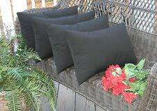 Set of 4 Pillow Covers - Rectangle / Lumbar - Choose Solid Color Indoor/ Outdoor