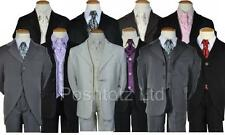 Baby Boys 5pce suits 0-3mth-14-15yrs pageboy christening formal wear