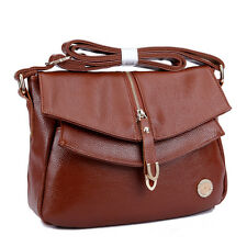 Vintage Women Leather Crossbody Satchel Fashion Shoulder Handbag Messenger Bag