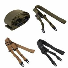 New Tactical Two 2 Dual Point Adjustable Bungee For Rifle Gun Sling System Strap