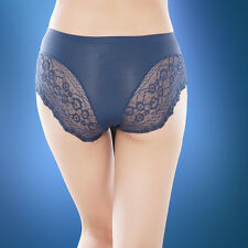 1,4 Pack Ladies Lace Seamless French Knickers Boxer Briefs Lingerie UK 8 10 12