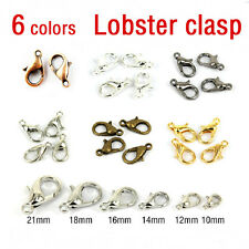 50/100X Silver/Gold/Bronze Lobster Claw Clasp Hook Making 10/12/14/16MM 3 Colors