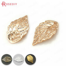 30PCS 17*10MM Brass Tree leaf Charms Pendants Jewelry Findings Accessories 29377