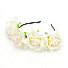 Beautiful Rose Hair Clasp Hair Band Wedding Party Shoot Decorate