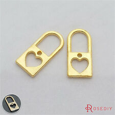 20PCS 25*12MM Zinc Alloy Lock Charms Pendants Jewelry Findings Accessories 21111