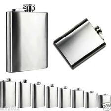 Hip Flask Plain Stainless Steel Whiskey Pocket Flask Gift Engravavable 4oz -18oz