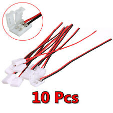 10Pcs PCB Cable 2 Pin LED Strip Connector 3528/5050 Adapter Useful CHI