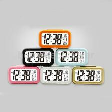 ABS LCD Screen Digital Alarm Clock With Date & Temperature Display & Backlight