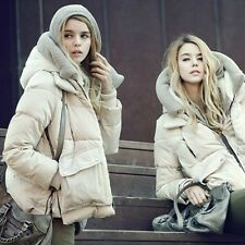 NEW Women's Goose Down Jacket Long Coat Thicken Hooded Winter Outerwear Overcoat