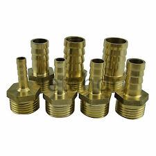 """5/10pcs Male 12mm to 1/8"""" 1/4"""" 3/8"""" 1/2"""" BSP Barb Hose Pneumatic Brass Connector"""