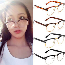 2016 Fashion Retro Half Frame Clear Lens Glasses Nerd Geek Eyewear Eyeglasses US