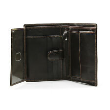 Tony Perotti Italian Leather Bifold Euro Wallet w/ ID and Coin Pouch