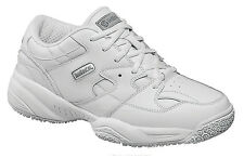 Skidbuster Womens Slip Resistant Athletic W White Leather Shoes