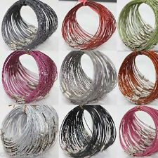 Lots 10/100X Wire Cable Stainless Steel Chain Charms Cords Making Bracelet 1mm