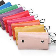 Portable Unisex PU Leather Key Chain Accessory Pouch Bag Wallet Case Key Holder