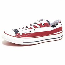 7376P sneaker CONVERSE ALL STAR rosso/bianco scarpa donna shoe woman