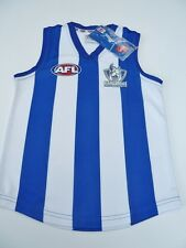 AFL NORTH MELBOURNE KANGAROOS KIDS FOOTY JUMPER/GUERNSEY  - BRAND NEW