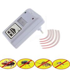 Electronic Ultrasonic Pest Control Repeller Repelling Aid for Rodent Roaches 1PC