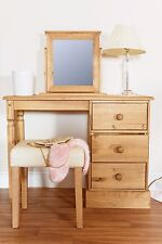 Cotswold Solid Country Pine Bedroom Range - Dressing Table, Stool & Mirror