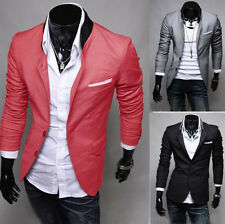 Stylish Men's Casual Slim Fit Two Button Suit Blazer Coat Jacket Tops New